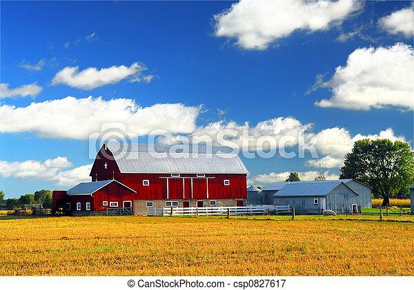 El granero rojo - csp0827617