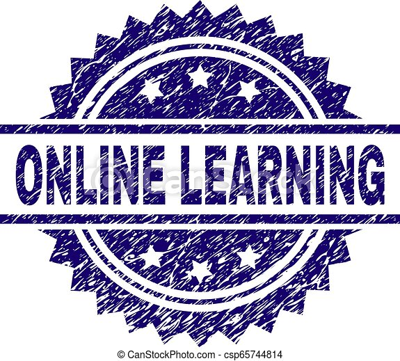 El grunge texturó ONLINE aprendiendo sello de sello - csp65744814