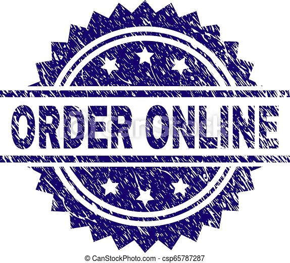 El grunge textured orden ONLINE sello de sello - csp65787287