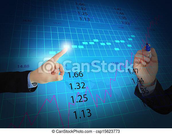 El hombre de negocios de la bolsa de valores - csp15623773