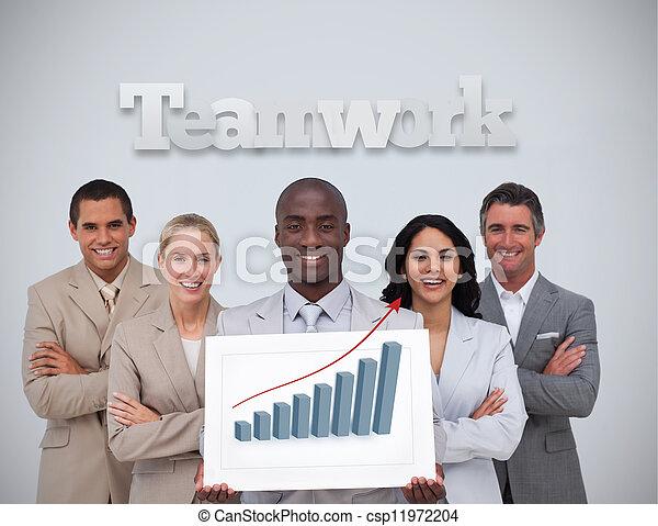 El hombre de negocios tiene estadísticas - csp11972204