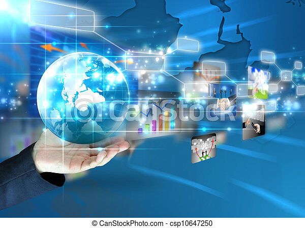 El hombre de negocios tiene un mundo de negocios - csp10647250