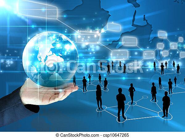 El hombre de negocios tiene un mundo de negocios - csp10647265