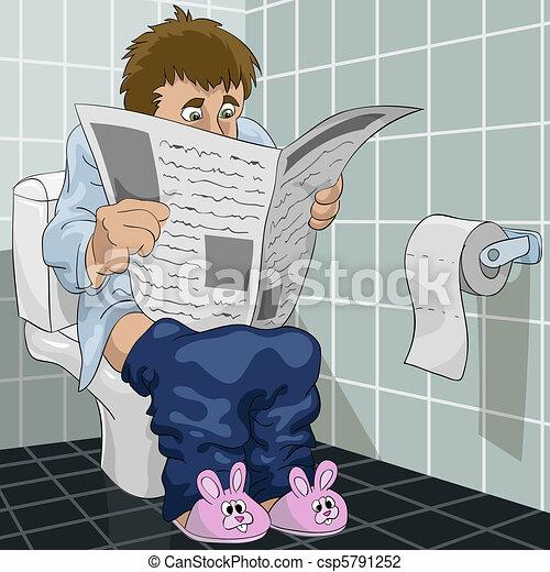 El hombre del baño - csp5791252