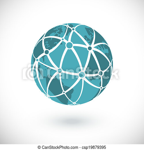 El icono de la red global - csp19879395