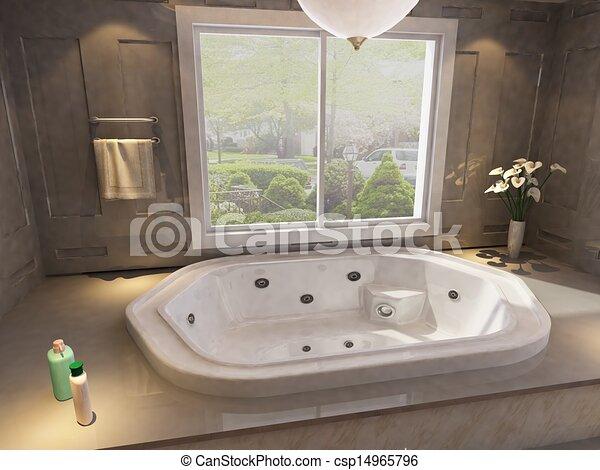 El interior del baño - csp14965796
