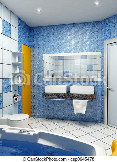 El interior del baño - csp0645478