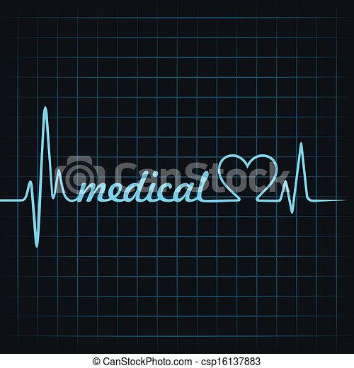 El latido hace texto médico - csp16137883
