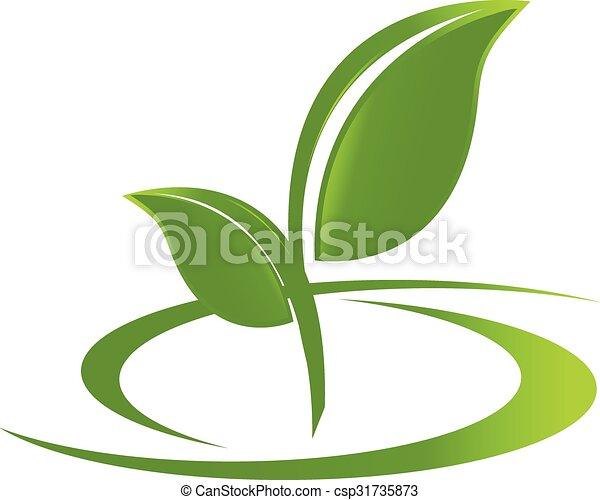 El logo es la naturaleza de la salud - csp31735873