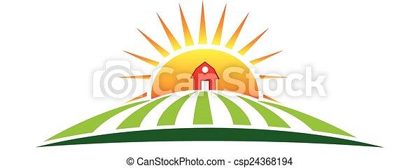 El logotipo de la agricultura solar - csp24368194