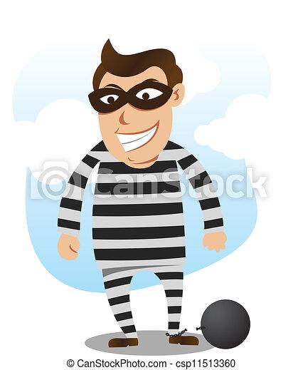 El malo está libre de la cárcel - csp11513360