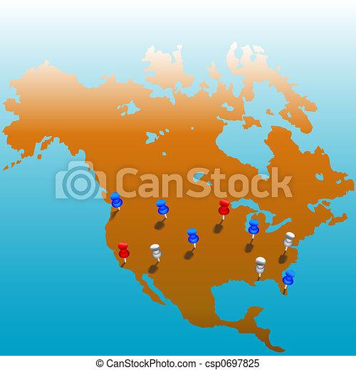 El mapa del mundo entero - csp0697825