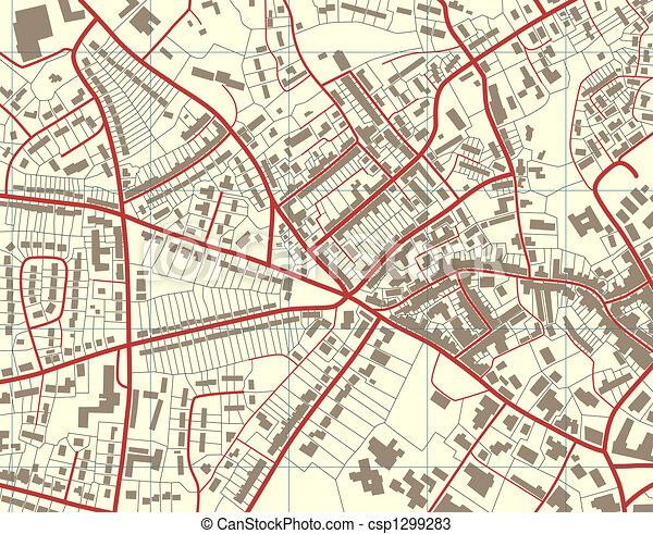 El mapa del pueblo - csp1299283