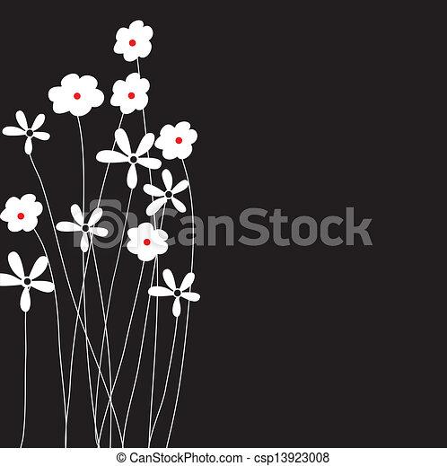 El marco de vector de vitrina de fondo floral - csp13923008