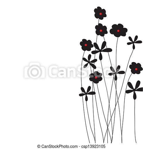 El marco de vector de vitrina de fondo floral - csp13923105