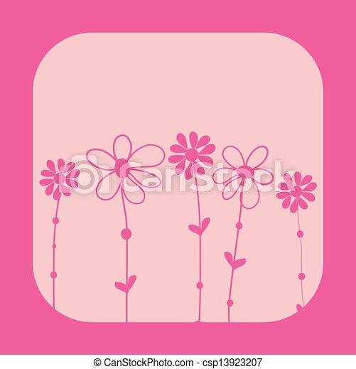 El marco de vector de vitrina de fondo floral - csp13923207