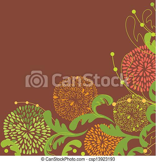 El marco de vector de vitrina de fondo floral - csp13923193