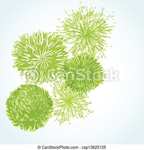 El marco de vector de vitrina de fondo floral - csp13625125