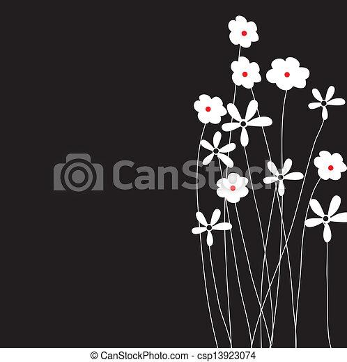 El marco de vector de vitrina de fondo floral - csp13923074