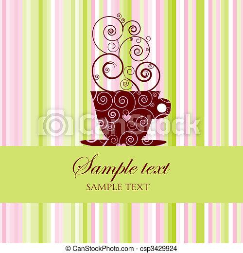 El menú de café - csp3429924