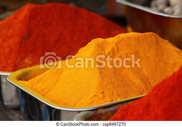 El mercado de las especias tradicionales en la India - csp8497270