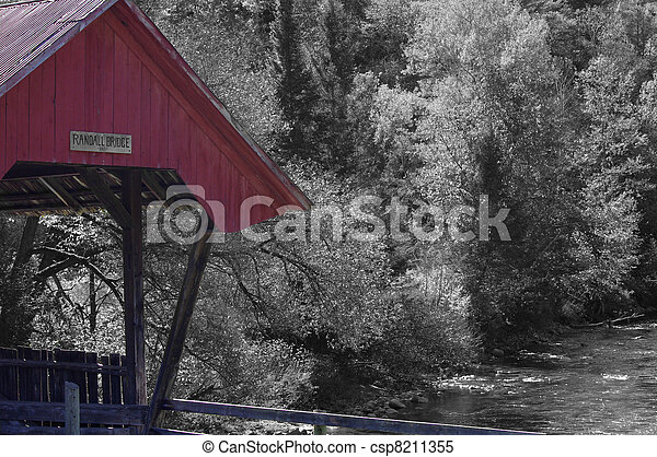 El monocromo cubrió el puente - csp8211355
