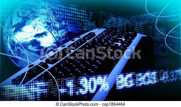 El negocio tecnológico y la bolsa - csp1864464
