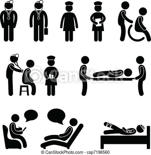El paciente del hospital está enfermo - csp7196560