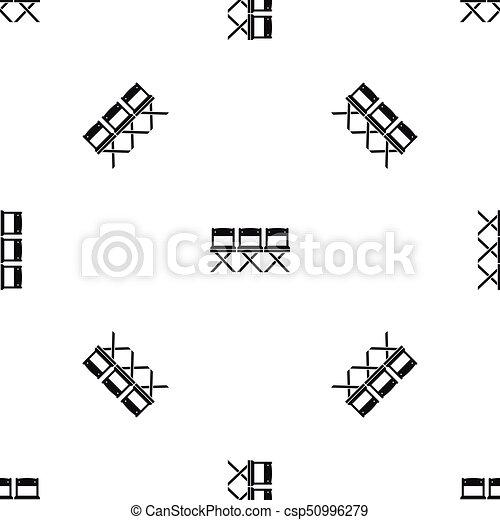 El patrón de las sillas es negro - csp50996279