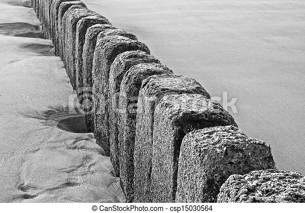El primer plano de Stone Groin - csp15030564