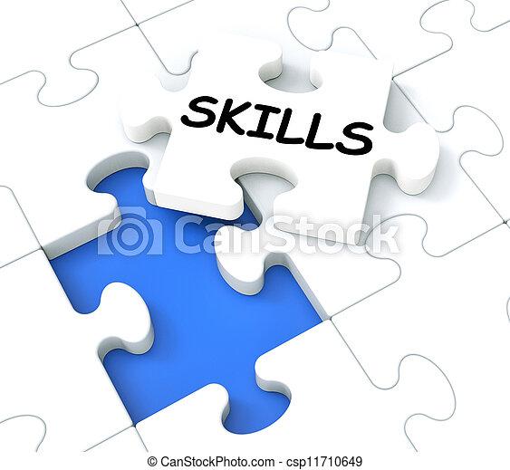 El rompecabezas muestra aptitudes y talentos - csp11710649