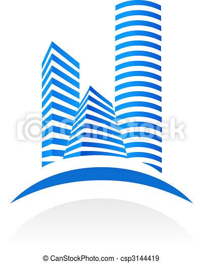 El símbolo de bienes raíces - csp3144419
