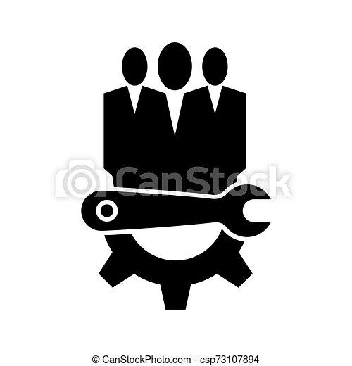 El símbolo del icono de mantenimiento técnico se aísla en el fondo blanco, ilustración de vectores - csp73107894