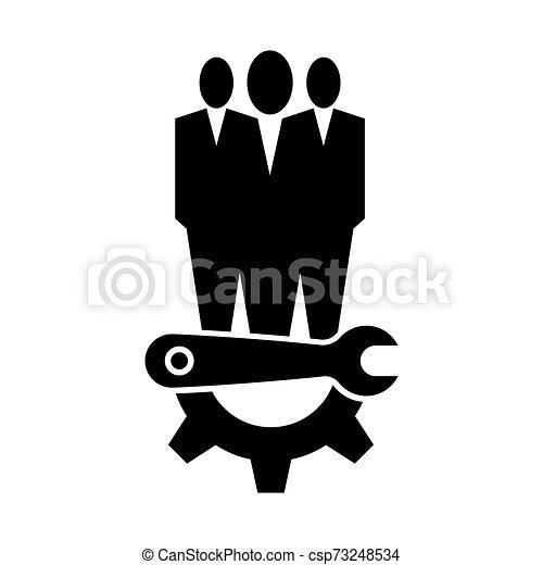 El símbolo del icono de mantenimiento técnico se aísla en el fondo blanco, ilustración de vectores - csp73248534