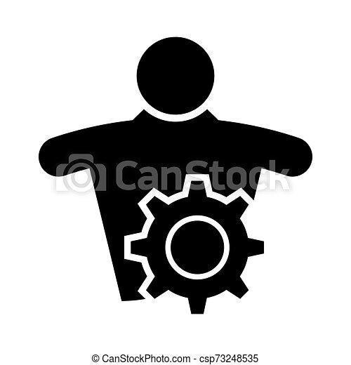 El símbolo del icono de mantenimiento técnico se aísla en el fondo blanco, ilustración de vectores - csp73248535