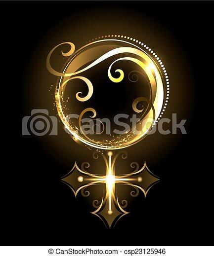 El símbolo dorado de Venus - csp23125946