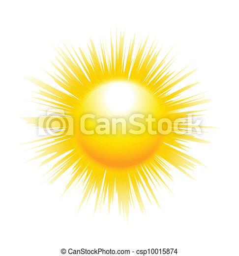 El sol con rayos afilados - csp10015874