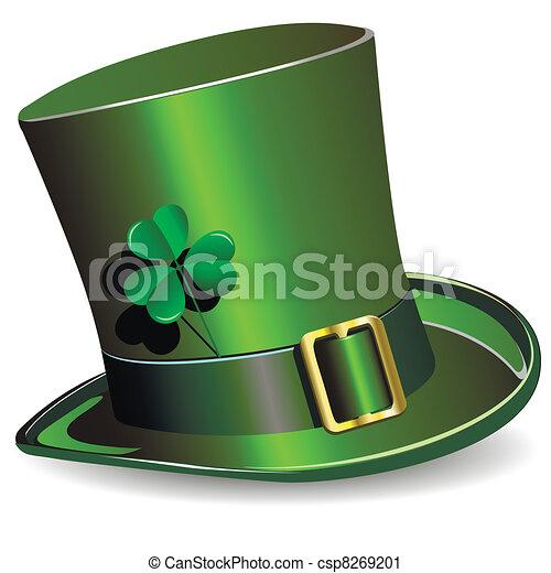 El sombrero del día de San Patrick - csp8269201