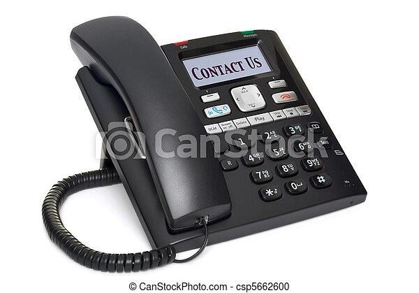 El teléfono de la oficina nos contacta aislados en blanco - csp5662600