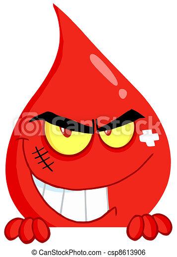 El tipo de la sangre maligna sonriendo - csp8613906