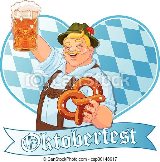 El tipo del Oktoberfest - csp30148617