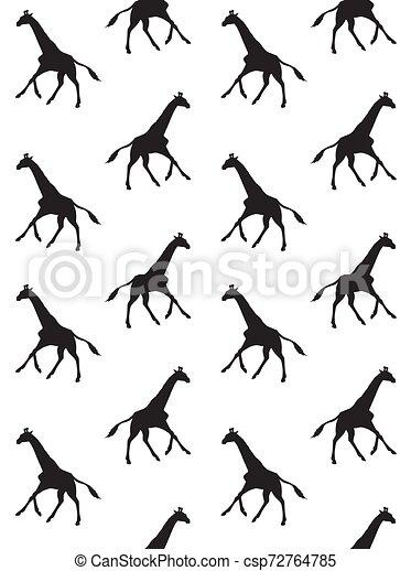 El vector no tiene forma de jirafa - csp72764785