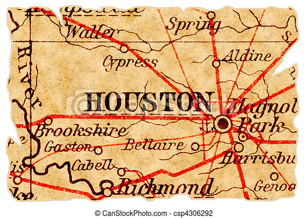 El viejo mapa de Houston - csp4306292