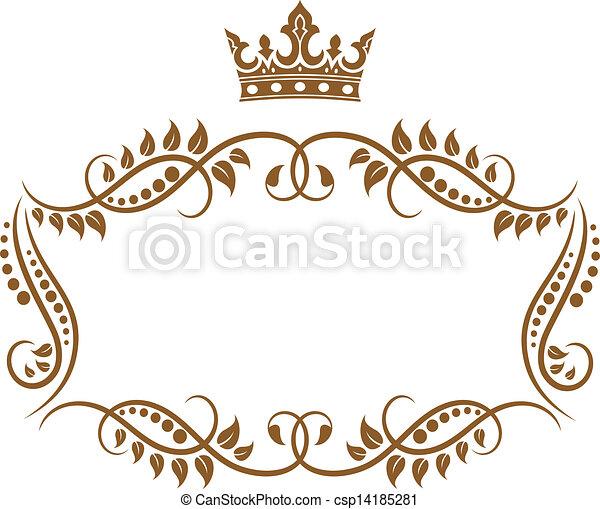Elegante imagen real medieval con corona - csp14185281