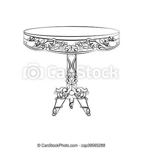 La elegante mesa redonda imperial - csp39565288