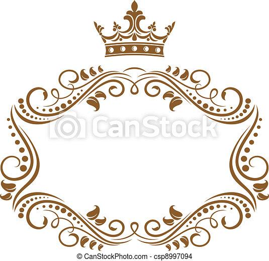 Elegante marco real con corona - csp8997094