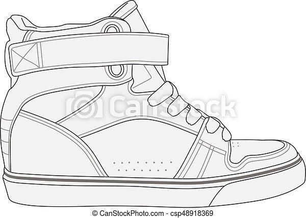 Zapatos modernos con estilo - csp48918369