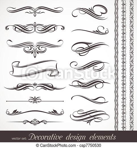 Elementos de decoración de vectores y decoración de páginas - csp7750530