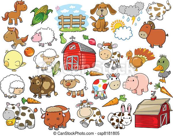 Elementos de diseño de vectores de animales - csp8181805