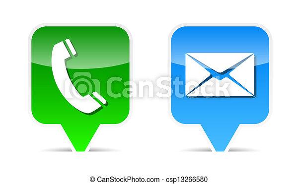 Elementos de diseño por teléfono y correo - csp13266580